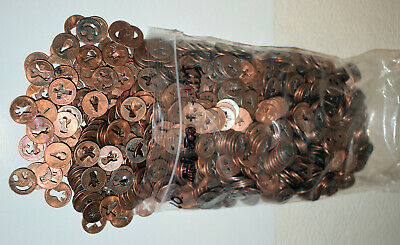 11. Lot Of 600 Lincoln Cents Culls Cut- Out All Religious Themed Crosses Only