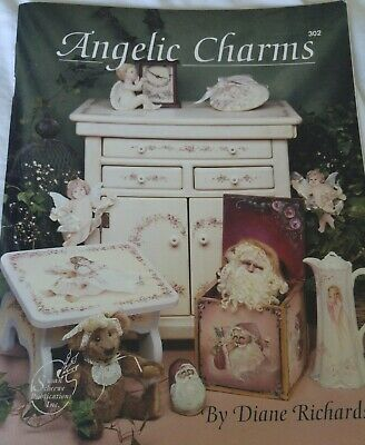 Tole Painting Pattern Book ANGELIC CHARMS Angels Santas & Roses - Diane Richards