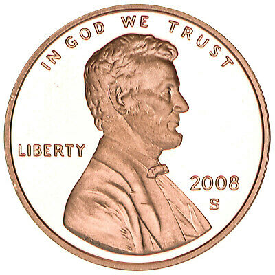 2008 S Lincoln Memorial Cent Gem Deep Cameo Proof Penny