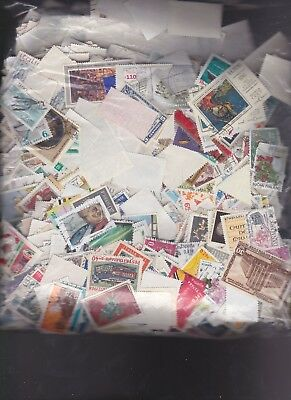 1000 Used World Wide Stamp Mixture  Old and New  Mostly large