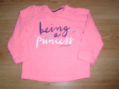 Baby girls coral pink Princess long sleeve top, MOTHERCARE, 9-12 months