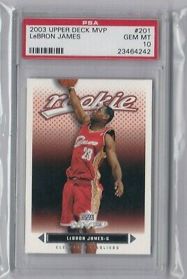 3425d49f1d6 2003 Upper Deck Mvp Basketball Lebron James Rookie Card Rc #201 Psa Gem Mt  10