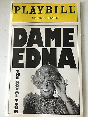 Dame Edna The Royal Tour Playbill The Booth Theatre W/ticket