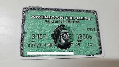 Mexico - American Express - Expired - Credit Card - 1987 - Old & Rare