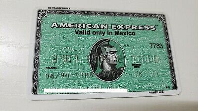 Mexico - American Express - Expired - Credit Card - 1990 - Old & Rare
