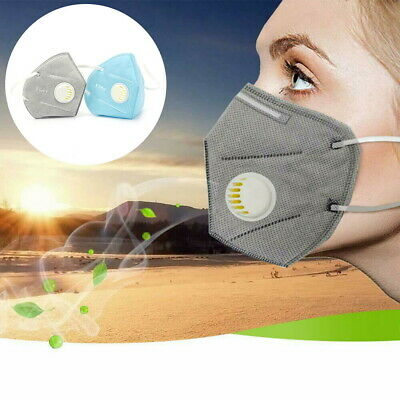 10 x Face Mask Respirator FFP2 Valved Sanding Paint Aerosol Dust Bodyshop Safety