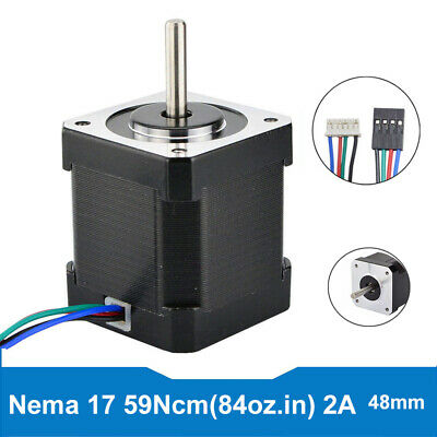 59Ncm Nema 17 Stepper Motor Bipolar 4-wire 2A 83.6oz.in For Robot CNC 3D Pinter