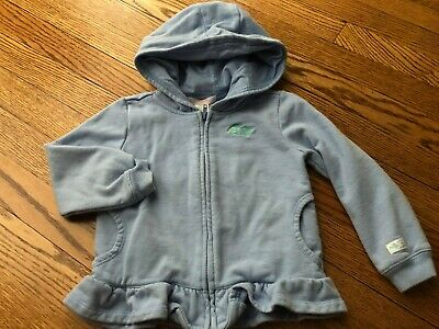 Toddler Girl's JANIE & JACK Blue 'Fish' Hooded Sweatshirt - Size 2T