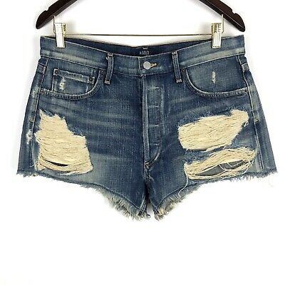 8f828d9eaa Agolde Womens Parker High Rise Distressed Destroyed Denim Shorts - Size 28