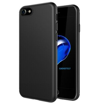 Case For iPhone 7 Shock Proof Crystal Clear Soft Silicone Gel Cover Black