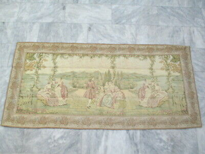 5029 - Old French / Belgium Tapestry Wall Hanging - 203 x 95 cm