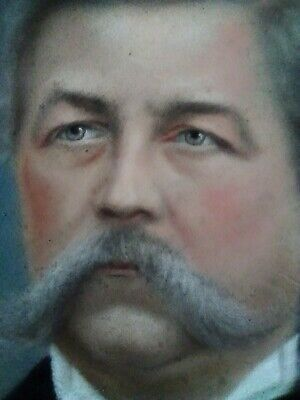 Fine Art Antique Unframed Oval Pastel Of A Gentleman Signed and Dated 1896