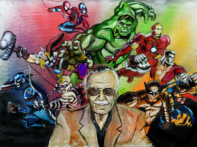 Stan Lee Avengers Super Hero Wall Art Print Size 11x17 Marvel Ironman Spider-man