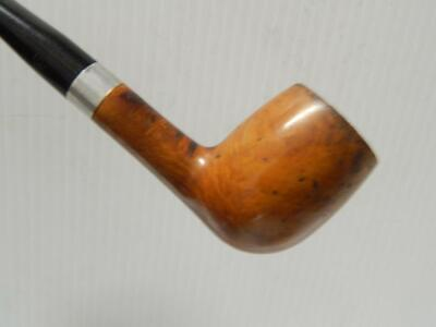 Vintage Duo Lined Yellow Bole Briar Tobacco Smoking Estate Pipe Nice Old Stem