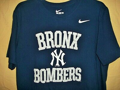 6bdf102a3 Men's Nike Tee Bronx Bombers New York Yankees Navy T-Shirt Size L New With