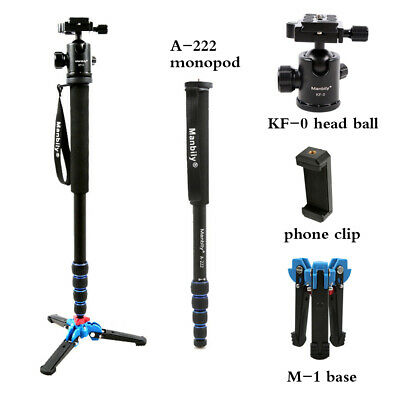 Manbily A-222 Pro Alumninum Monopod+Ball Head+Base Tripod Stand for DSLR Camera