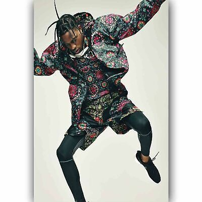 Travis Scott And Dog New Rapper Singer 14x21 24x36 inch Art Waterproof Poster 50