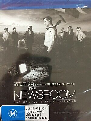 THE NEWSROOM - Season 2 3 x Disc BLURAY Set BRAND NEW! Second Series Two