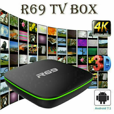 2019 R69 Smart TV Box Android 7.1 Quad Core 1+8G HD 2.4GHz WiFi 4K Media Players