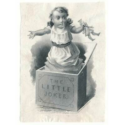 1872 A. Dougherty Playing Card Joker Die Proof ABNCo. + playing card