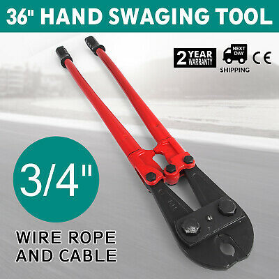 """915mm / 36"""" Hand Swaging Wire Rope Cutting Plier Rubber Grip Handle Cutter 20mm"""