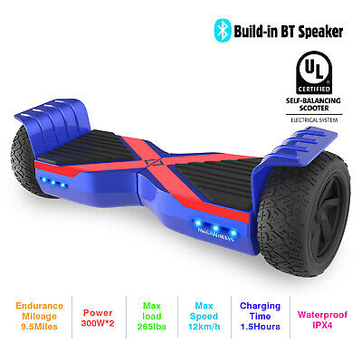 """Hoverboard 8,5"""" Elettrico Scooter Bluetooth 2 Ruote Self Balance Board LED blue"""