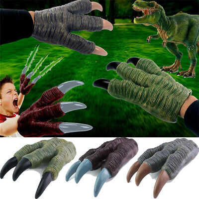 1 Pair Soft Rubber Tyrannosaurus Rex Dinosaur Claws Gloves For Kids Birthday Christmas Holiday Gift Toys & Hobbies
