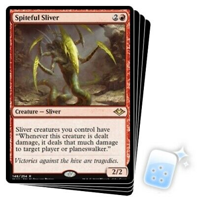 SPITEFUL SLIVER X4 Modern Horizons Magic MTG MINT CARD