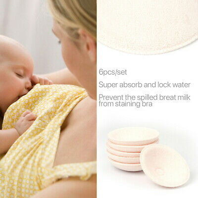 6 Pcs Reusable Washable Breast Feeding Baby Nursing Pad Cotton Breastfeeding Bra