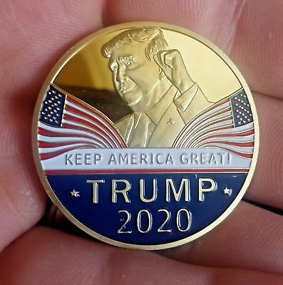 Trump 2020 Presidential Challenge Coin Reelection Slogan KEEP AMERICA GREAT !