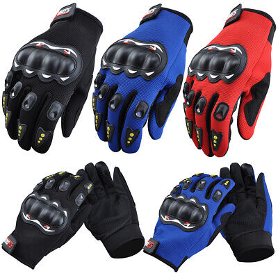 Cycling Riding Motorcycle Gloves Hard Knuckle Half Finger Gloves Screen Touch UK