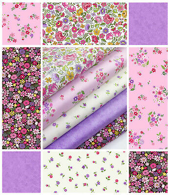 Bloom by Makower Quilting 100% Cotton Craft Fabric Ditsy Florals