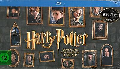Harry Potter Collection Complete Tous 8 Films Blu Ray Box Set Edition Neuf