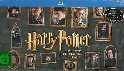 Harry Potter Complete Collection Tutti 8 Film Blu Ray Box Set Edition Nuovo Ovp