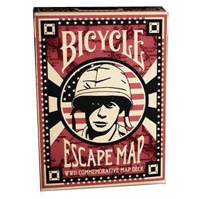 BICYCLE  ESCAPE MAP - poker size playing cards deck - mazzo carte da gioco magia