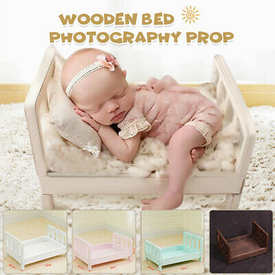 Newborn Baby Gift Photo Prop  Infant Posing Wooden Seat Photography Shoot Aid