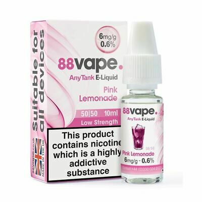 88VAPE VALUE Pack of 20 E-Liquids PINK LEMONADE BULK BUY MADE IN THE UK