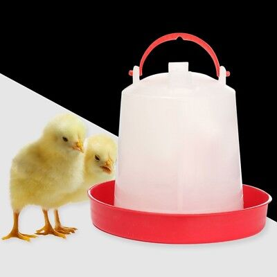 1L Chicken Feeder Drinker Farm Poultry Chick Hen Quail Food Water Container UK