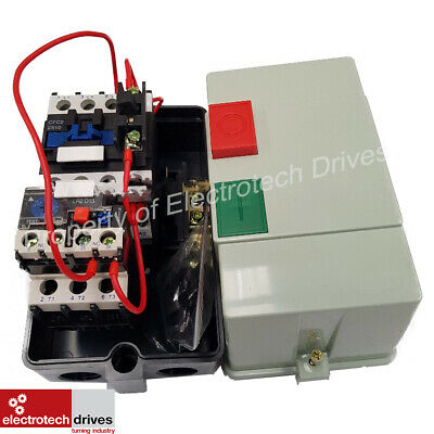 Electric Motor DOL Starter 240V OR 415V PreWired Contactor Overload Fitted 25AMP