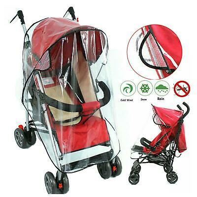 1pc Quality Universal Buggy Pushchair Stroller Pram Transparent Rain Cover JS008