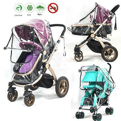 Universal Pushchair Pram Transparent Wind Shield Rain Cover - Clear