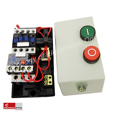 Electric Motor DOL Starter 240V OR 415V PreWired Contactor Overload Fitted 18AMP