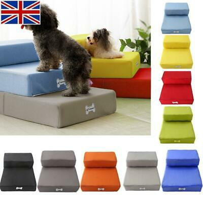 Pet Stairs Dog Cat Training Steps Safe Ramp Foam Couch Removable Washable Cover