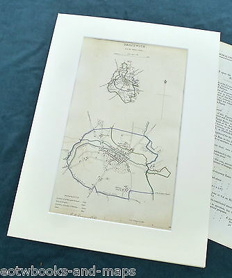 DROITWICH, 1837 - Mounted Antique Map & Report - Dawson / Boundary Commission.