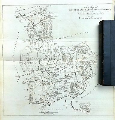 KENT, 1797 - ANTIQUE MAP of The Hundred OF WESTERHAM & EATONBRIDGE - HASTED.