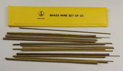 23x Brass Bushing Wire For Clocks diameters 0.40 to 4.00mm clock bushes bush