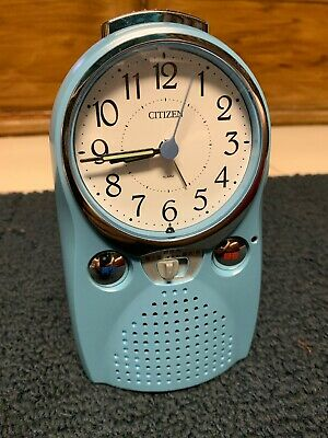 Cute Light Blue Citizen Japanese Alarm Clock. Record Your Own Alarm!