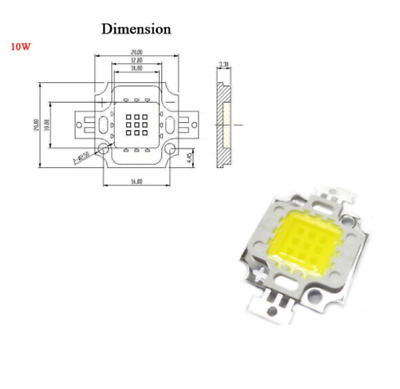 Led 10W-20W-30W-50W-100W Blanc Froid / Blanc Chaud -Led Puce
