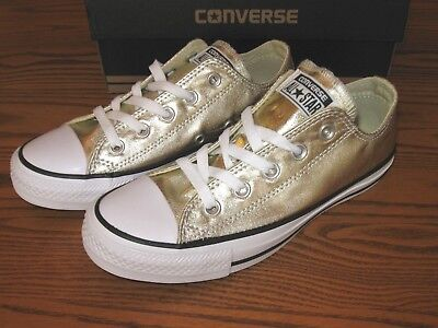 c7426fe0f963 New Converse Chuck Taylor AS Light Gold Metallic Shoes 153181F Women's 11  12 $60