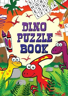 1/6/12/24/36 Kids Dinosaur Puzzle Activity Book Birthday Party Bag Filler Travel
